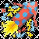 Fire Cracker Firework Rocket Icon