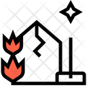 Fire Damage Cleaning Icon
