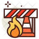 Fire Equipment Fire Barrier Fire Cone Icon