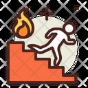 Fire Escape Fire Brigade Fire Rescue Icon