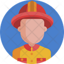 Fire Fighter Fireman Firefighter Icon