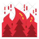 Fire Burning Tree Icon