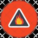 Fire Hazard Flame Danger Caution Icon