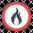 Fire Hazard Sign Icon