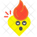 Fire Heart Fire Flame Icon