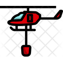 Emergency Helicopter Fire Helicopter Chopper Icon