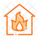 Building Flame Heating Icon
