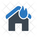 House Flame Building Icon
