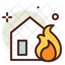 Fire House Fire Home Home Fire Icon