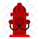 Firefighting Hydrant Flame Icon