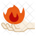 Fire in hand Icon
