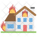 House Fire Fire Disaster Natural Disaster Icon