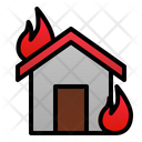 Fire House Disaster Hot Icon