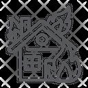 House Fire Burn Icon