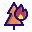 Fire In Tree Icon