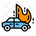 Fire Car Accident Icon