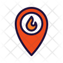 Fire Location Fire Place Emergency Icon