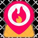Fire Location Location Pin Icon
