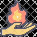 Fire Magic Fire Hand Icon