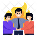 Motivation Fire Meeting Team Icon