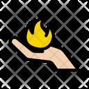 Flame Hand Circus Icon