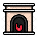 Fireplace Winter Christmas Icon