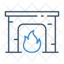 Fire Place Chimney Flame Icon