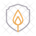Security Fire Shield Icon