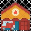 Firestation Architecture Firetruck Icon