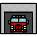 Fire Station Station Service Icon