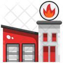 Fire Station Fire Brigade Firefighter Icon