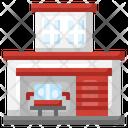 Fire Station Firemen Emergencies Icon