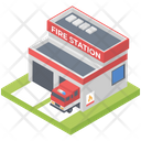 Fire Station Building Icon