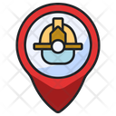Fire Station Location Fire Extinguishing Firefighter Icon