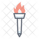 Fire Torch Conventional Torch Olympic Torch Icon