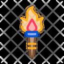 Greek Fire Torch Icon