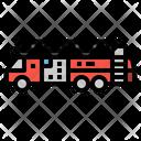 Truck Fire Transportation Icon