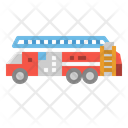 Truck Fire Transportation Icon