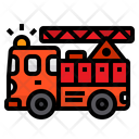 Fire Truck Firefighter Car Ladder Icon