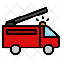 Fire Truck Transport Transportation Vehicle Emergency Rescue Icon