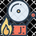Firealarm Alert Protection Icon