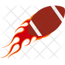 Fireball Rugby Ball Ball Icon