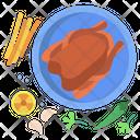 Fired Chicken Leg Chicken Chicken Icon