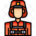 Firefighter Fireman Person Icon