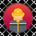 Firefighter Avatar Human Icon