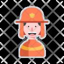 Firefighter Avatar Man Icon