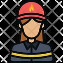 Avatar Firefighter Fireman Icon