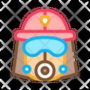 Fire Helmet Mask Icon