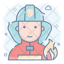 Firefighter Rescuer Fireman Icon