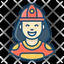 Female Firefighter Smoke Jumper Firewoman Icon